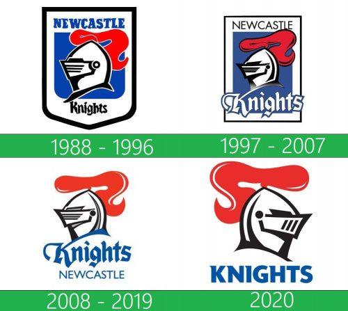 Newcastle Knights Logo historia