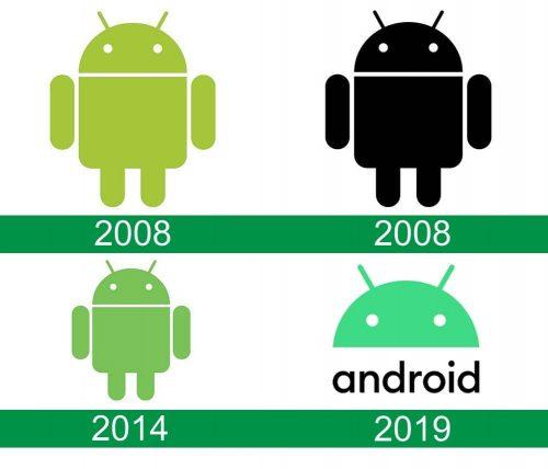 storia del logo Android