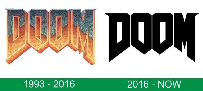 storia del logo Doom